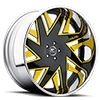 Forziano Black and Yellow with Chrome Lip
