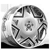 Castillo Silver, Black and White with Chrome Lip Cut A