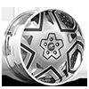 Castillo Silver, Black and White with Chrome Lip Cut B