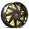 Forziano Black and Yellow with Carbon Lip
