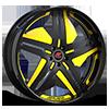 Tesla Black and Yellow with Black Lip Style B