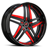Tesla Black and Red with Black Lip Style B