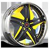 Tesla Black and Yellow with Chrome Lip
