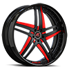 Tesla Black and Red with Black Lip Style A