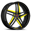 Tesla Black and Yellow with Black Lip Style A