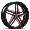 Tesla Black, Red and Satin with Black Lip Style A