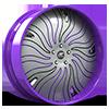 HNIC Cali 5 Silver, Black and Purple with Purple Lip