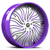 HNIC Cali 5 Satin, Black and Purple with Purple Lip