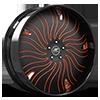 HNIC Cali 5 Black and Orange with Black LIp