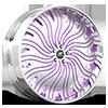 HNIC Miami 15 White and Purple with Chrome Lip