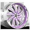 Entourage Satin and Purple with Chrome Lip