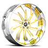Trifecta Yellow and Chrome with Chrome Lip