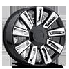 D-06 Gloss Black Chrome Inserts