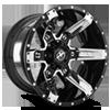 XF-214 Gloss Black w/ Chrome Inserts - 20x12