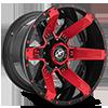 XF-214 Gloss Black w/ Red Inserts - 20x12