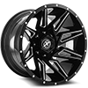 XF-218 Gloss Black Milled - 22x12