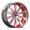 Cavo Silver, Black and Red with Chrome Lip