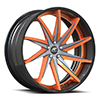 Vona Concave Orange and Black