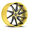 Vona Concave Yellow/Black Center, Chrome Lip