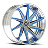 Vona Concave Blue and Sliver with Chrome Lip
