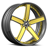 Delano Concave Yellow and Silver with Carbon Lip