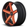Delano Concave Orange and Flat Black