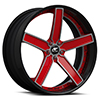 Delano Concave Red and Black with Carbon Lip