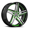 Tesla Concave Black and Green