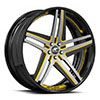Tesla Concave Black and Yellow with Black Lip
