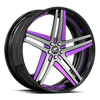 Tesla Concave Black and Purple with Black Lip